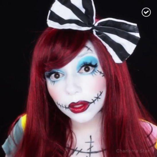 Макияж «Салли» на Хэллоуин