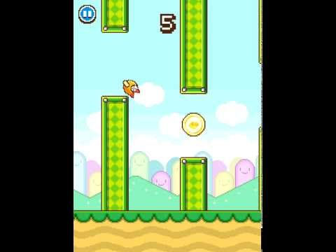Flappy Birds Alive! His full analogue Flappy Wings! BEST RECORD 16! Very Easy game