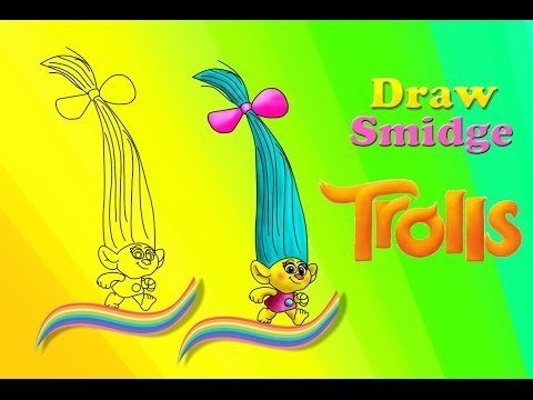 How to Draw Smidge from Trolls Movie step by step Cute and Easy TROLLS Smidge -TROLLS | Officia