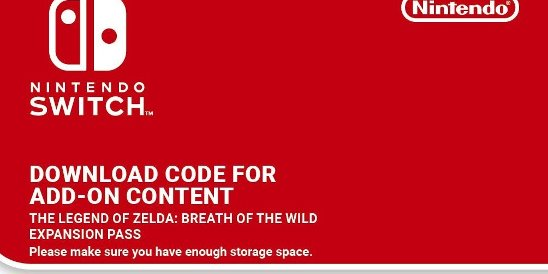 free zelda breath of the wild expansion pass redeem code digital