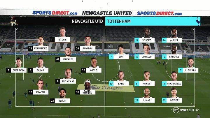 Newcastle United vs Tottenham Hotspur –  & Full Match