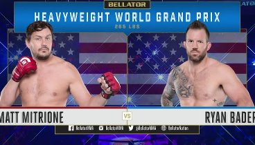 Bellator 207: Mitrione vs. Bader / Райан Бэйдер - Мэтт Митрион