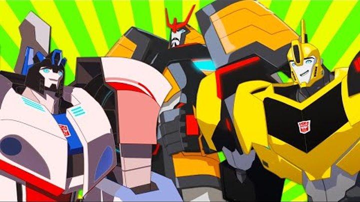 Обложка видеозаписи Сборник мультиков Трансформеры: Роботы под прикрытием. Старые и новые знакомые роботы