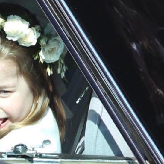 Принцесса Шарлотта показала язык на свадьбе