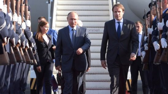 Владимир Путин на встрече с Ангелой Меркель