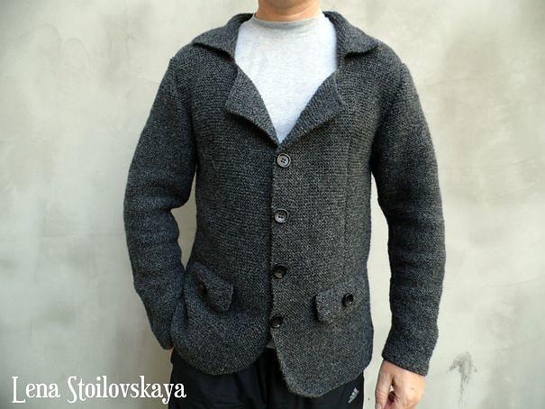 вязаный мужской пиджак