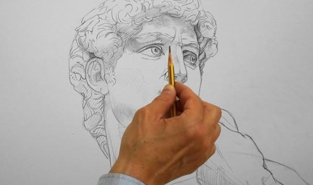 она прививает как измерить карандашом сложную картинку будем рассматривать