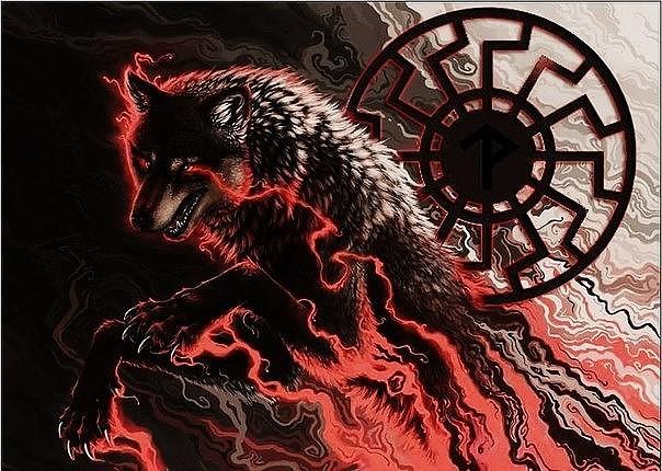 Волк с коловратом картинка
