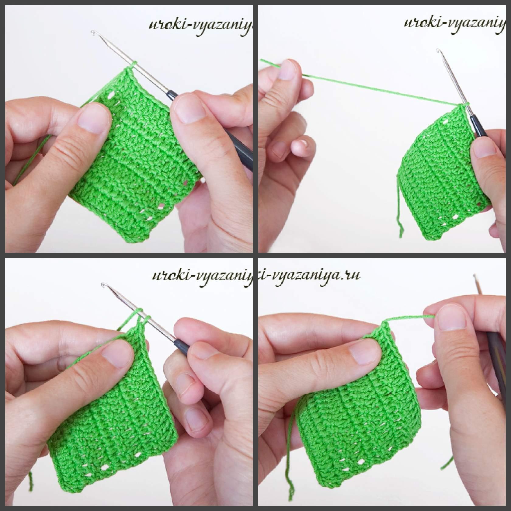 как красиво закончить вязание крючком и спрятать нить
