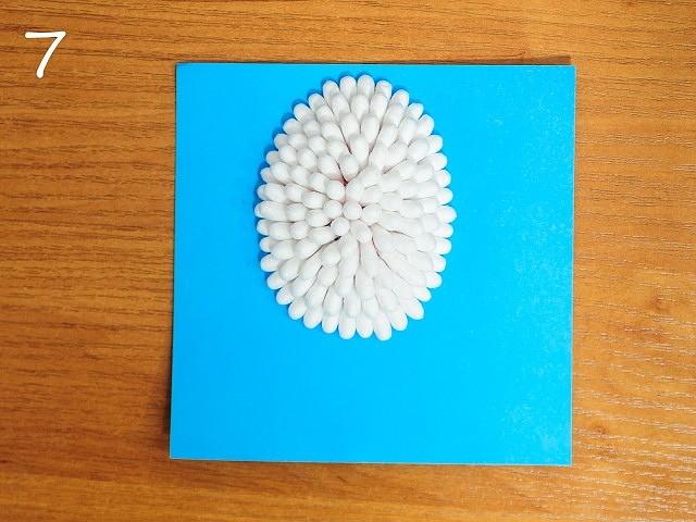 Поделка новогодней елки из ватных дисков рисунок меха