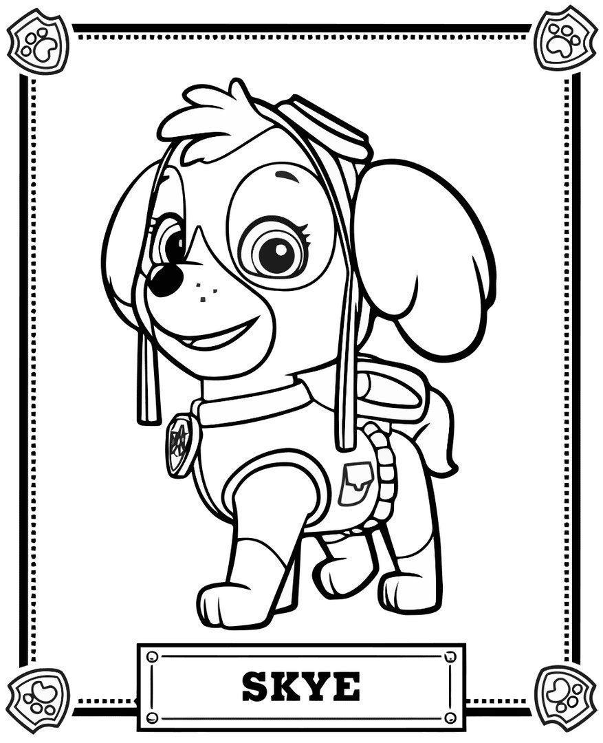 раскраски щенячий патруль