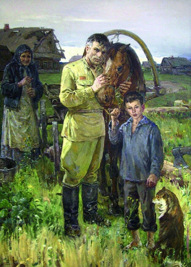 """Родионов Александр Миронович (1918-1995). """"Вернулся"""""""