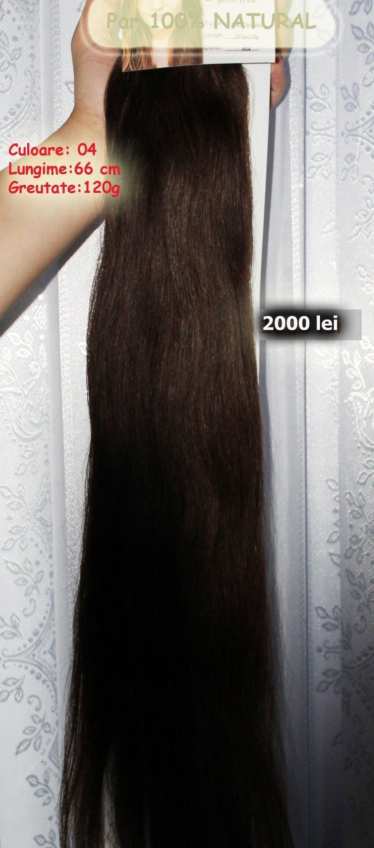 Alungire Par Extensii 100 Natural 1800 Lei 61 Cm 120 Grame
