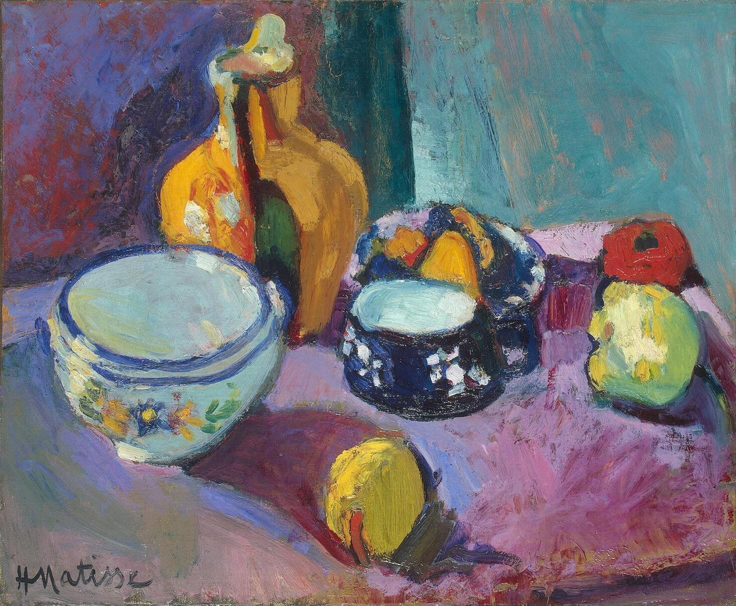 Картинки по запросу посуда и фрукты матисс