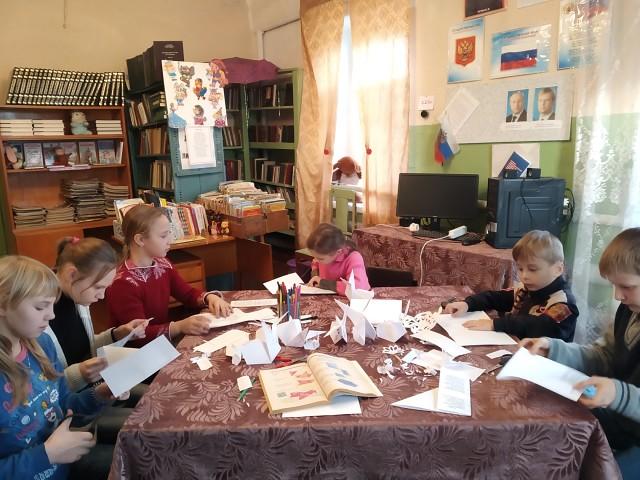 В селе Вязьмино состоялась творческая мастерская по обучению искусству оригами