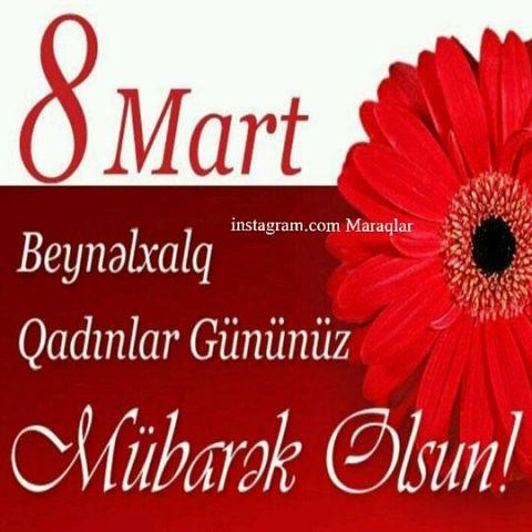 Bayraminiz Mubarek 8mart Tebriki Images Səkillər