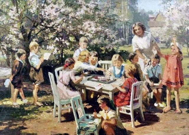 Бромулт Алфей. Детский сад. 1950