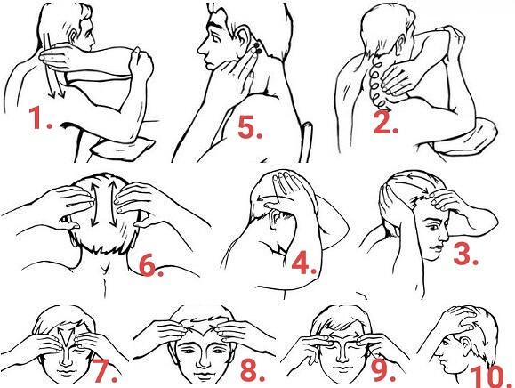 Упражнения от головной боли картинки