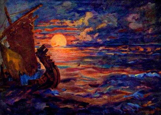 звёзды океан море синее рисунки оперы садко римского-корсакова открытку прямо