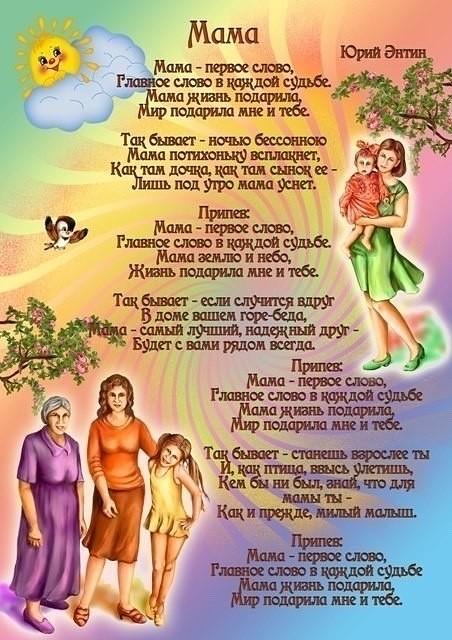 Картинки день матери для доу