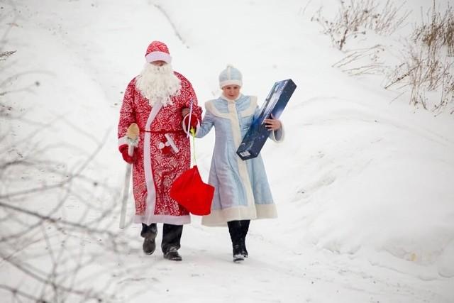 Санта Клаус и Снегур