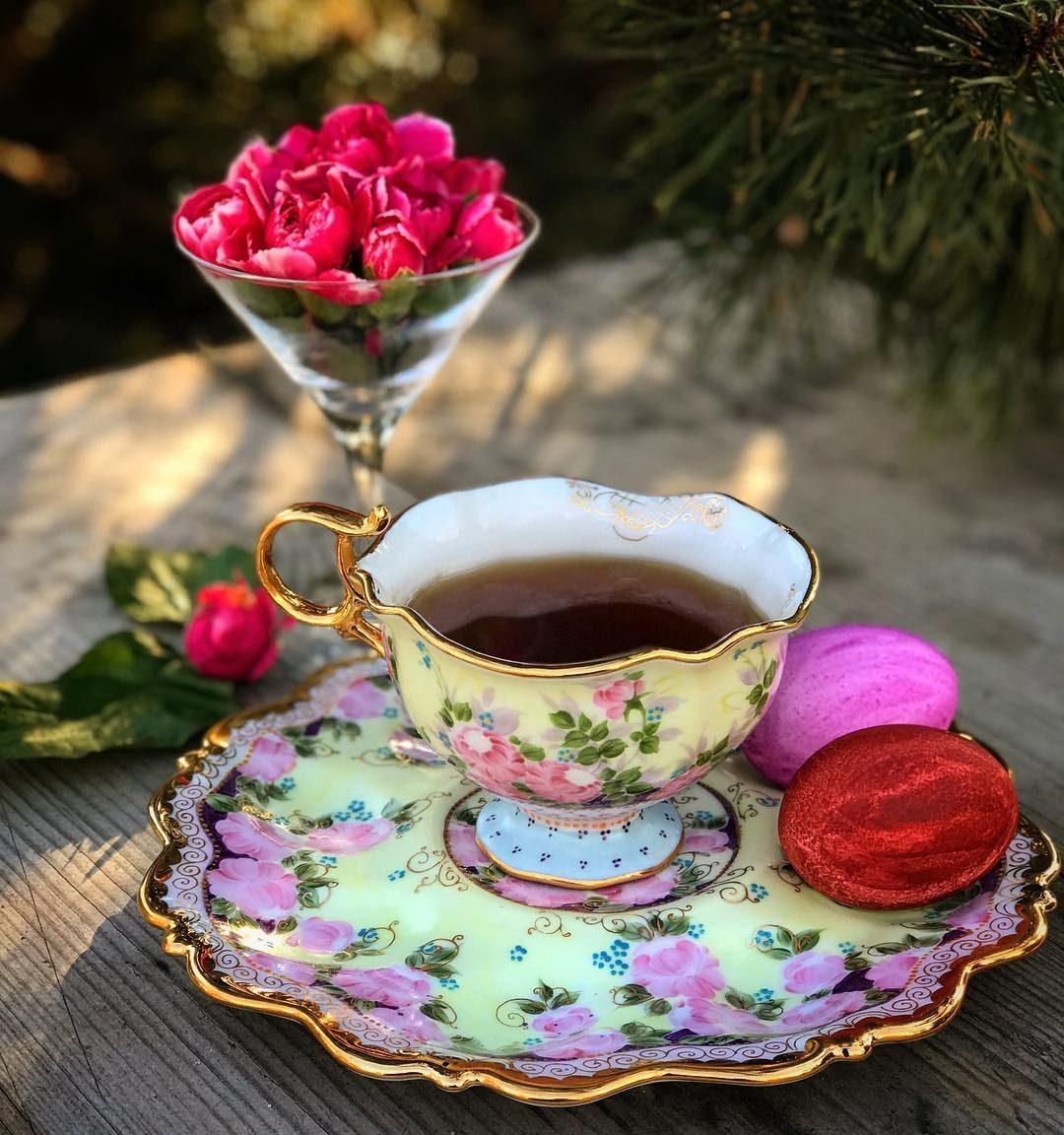 Чашка чая фото с добрым утром