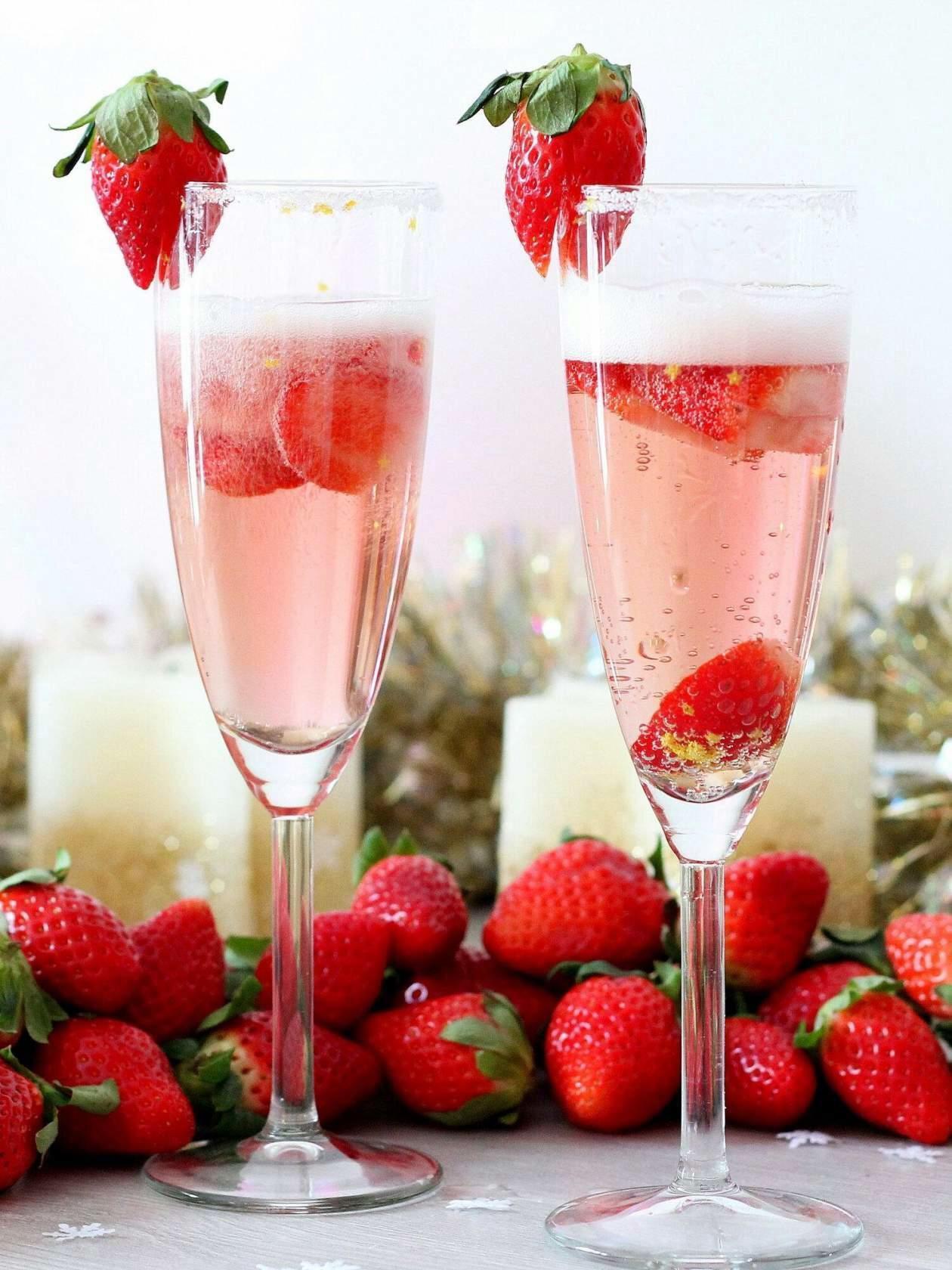 Машиной мерседес, картинка шампанское с клубникой