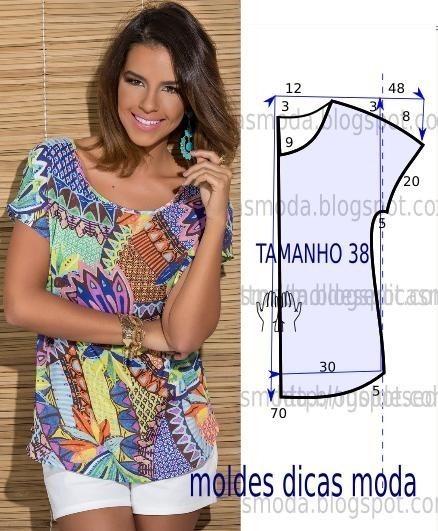 364a52a6c34 Как сшить блузку без выкройки быстро и просто. Мастер-класс. Продолжение  ниже.