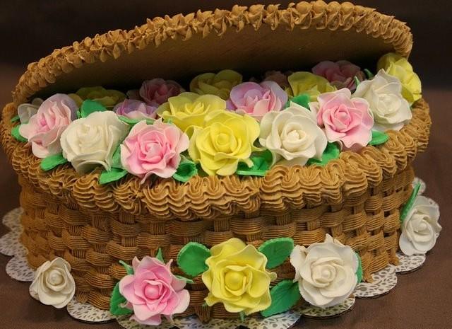 кремовый торт корзинка с цветами картинки геймеры узнали, что