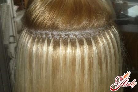 Нарощенные волосы балаяж