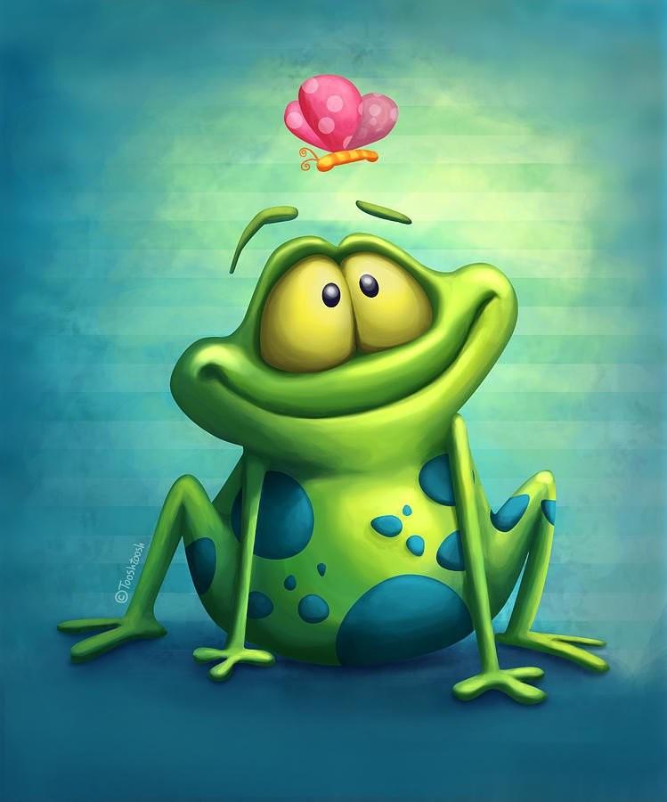 месторасположение лягушка картинка прикольная мультяшная картинка