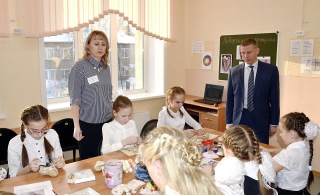 Барин, учительница и дети
