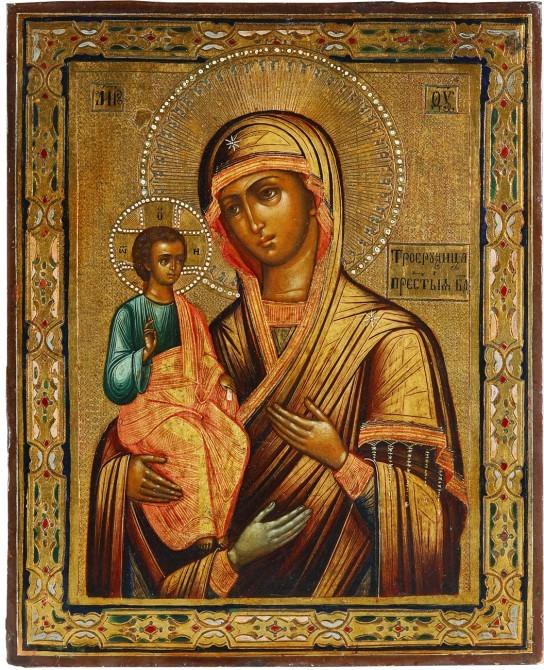Троеручица икона божией матери картинки