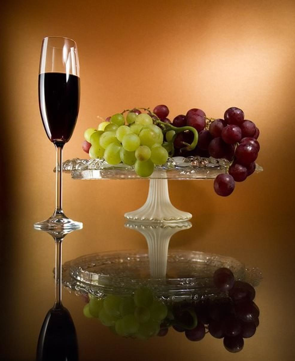 Открытки, открытки бокалы вино