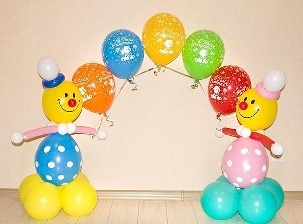 Поделки клоунов из шариков для детей