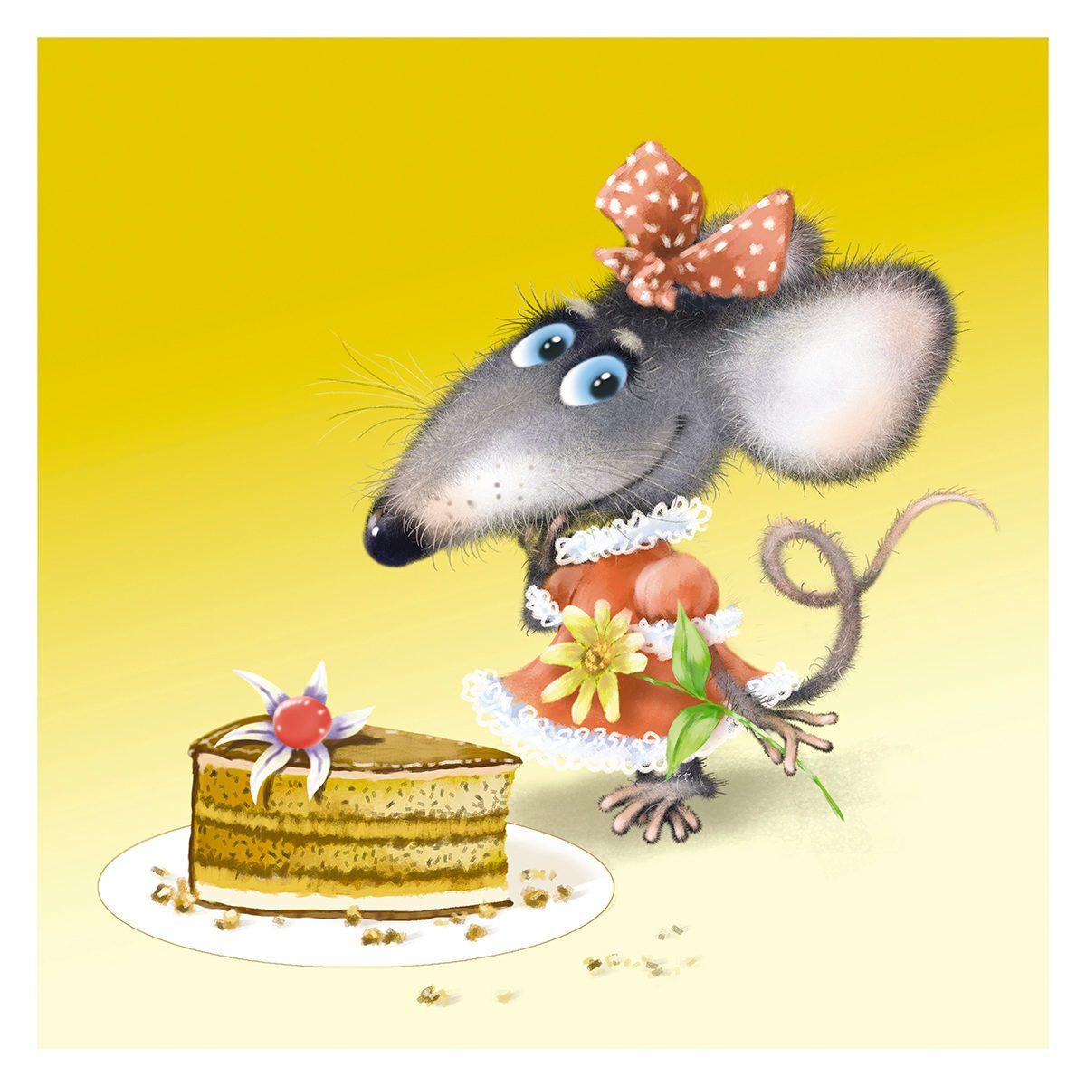 Открытка талисман года крыса