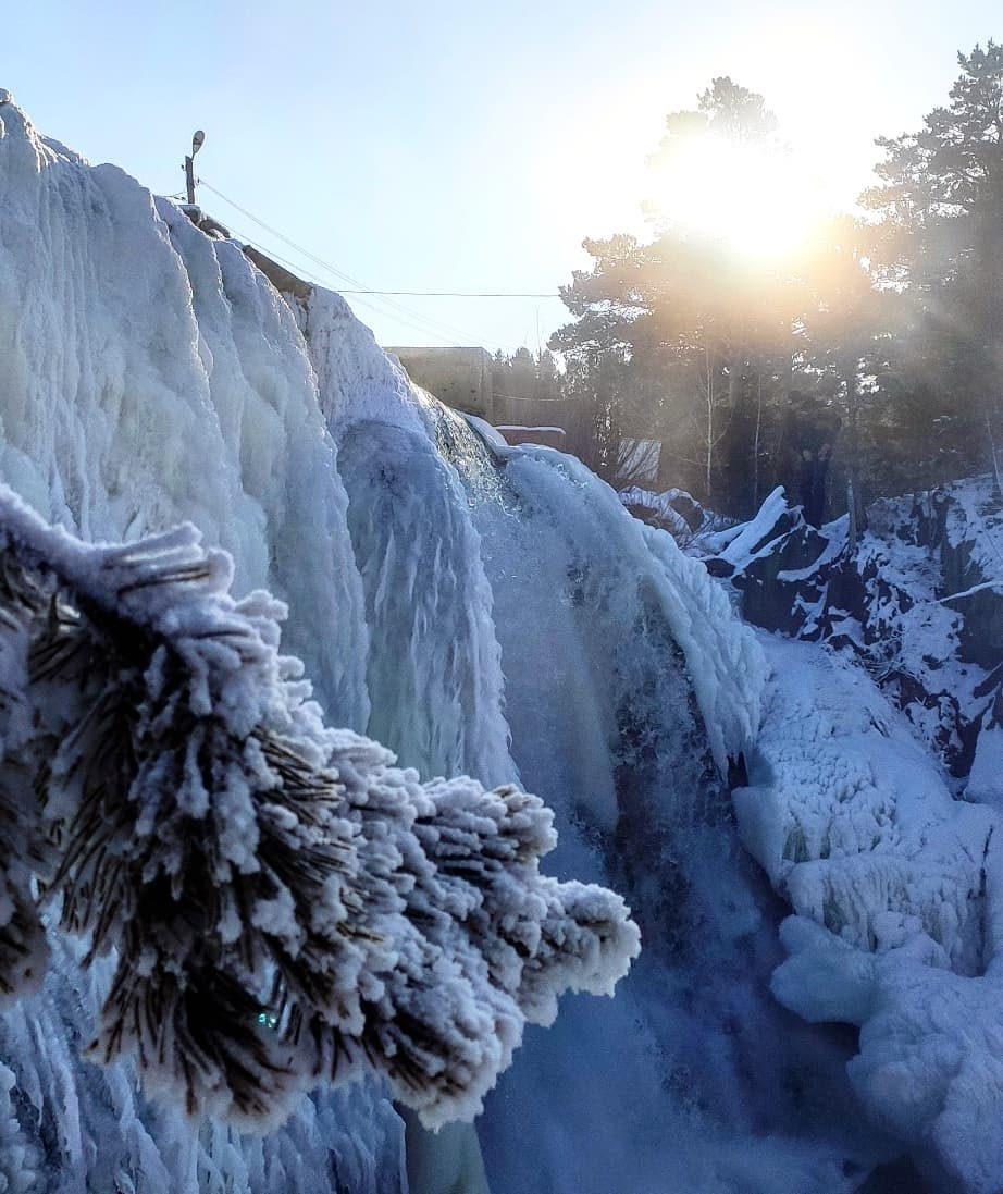 что думаешь карпысак водопад фото зимой отвлекайтесь такие