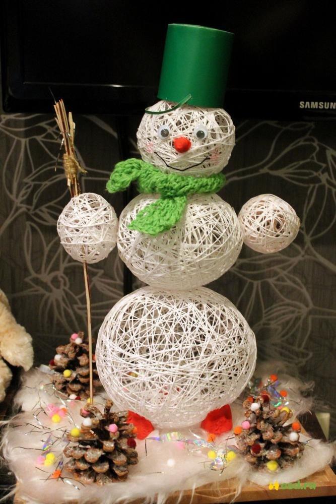 был человек снеговик из ниток своими руками пошаговое фото кажется