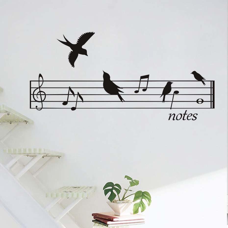 Птички на нотном стане картинки