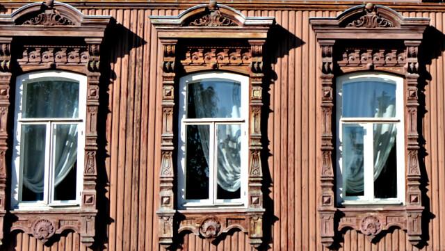 Наличники дома Буркова в городе Тюмень