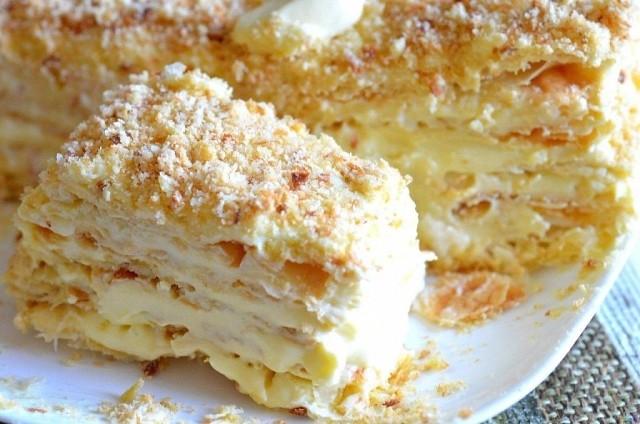 Рецепт домашнего наполеона. Вкуснейший торт