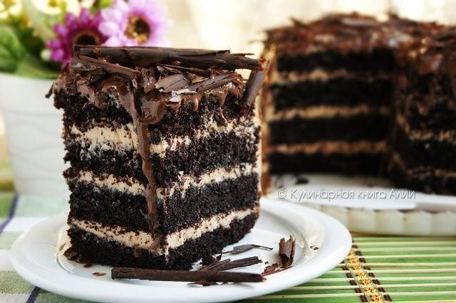 Кулинарная книга Алии: 574. Торт с карамельным кремом | 426x640