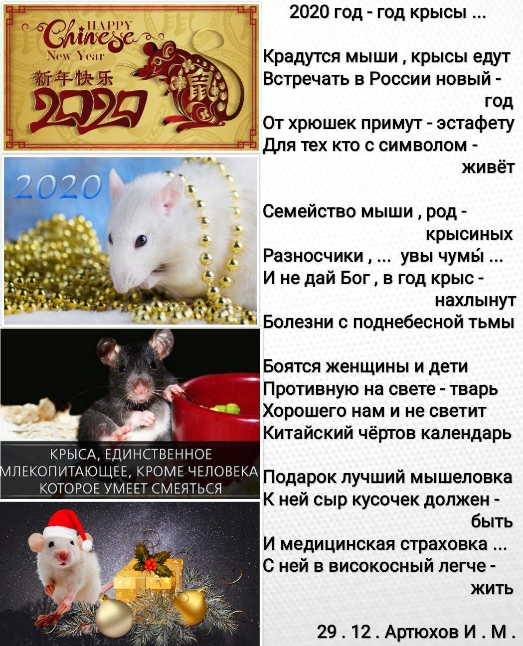 Новогодние поздравления в год крысы по знакам зодиака