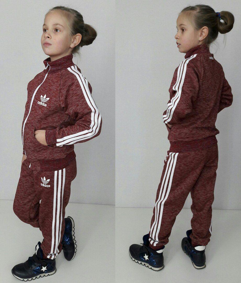 18ad289aabf8 Детский спортивный костюм с начесом для мальчика и девочки Adidas ...