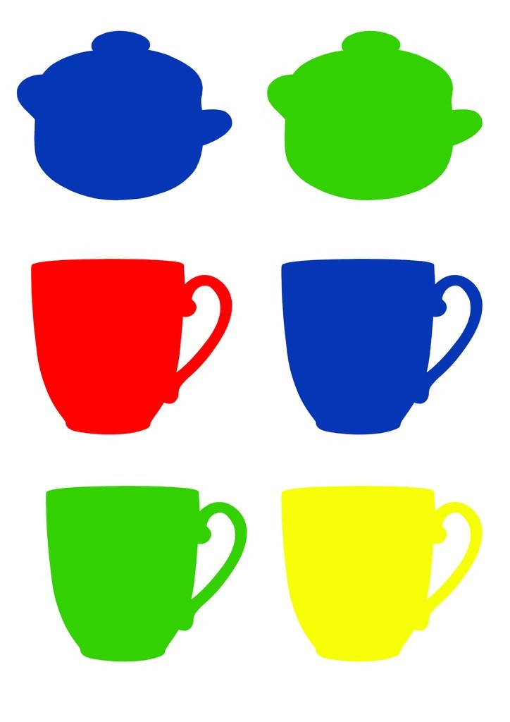Цветные предметы картинки