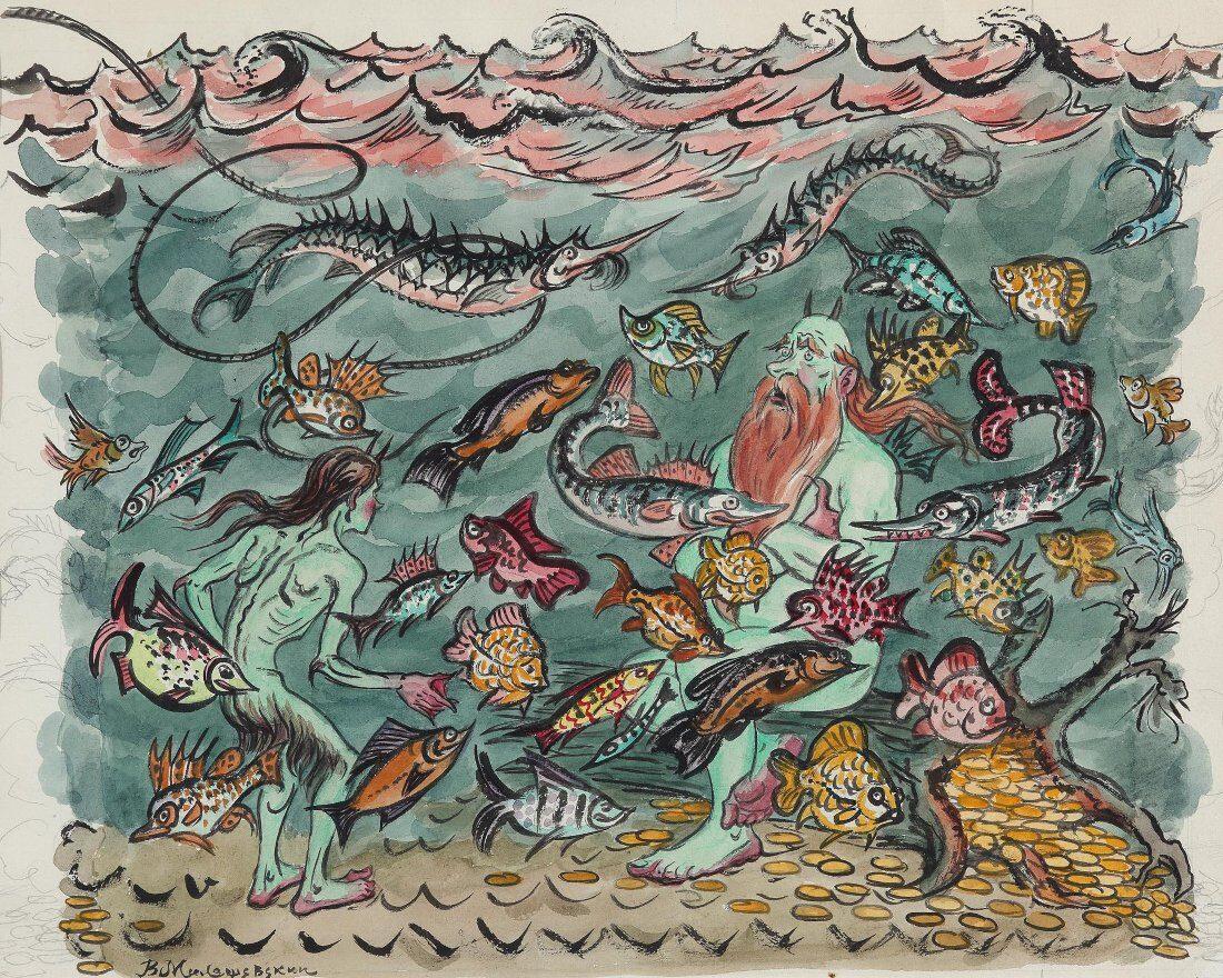 Иллюстрация «Сказка о попе и работнике его Балде»