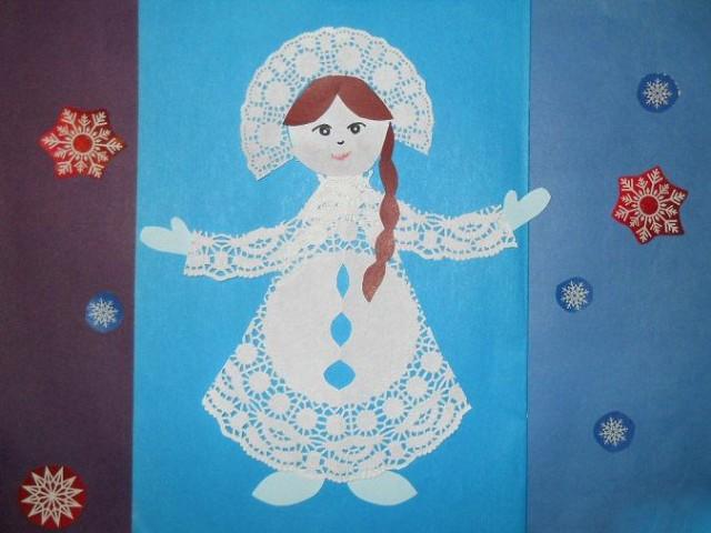 родственница новогодние рисунки из салфеток кончик