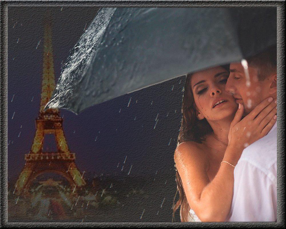 Живые картинки девушки дождь