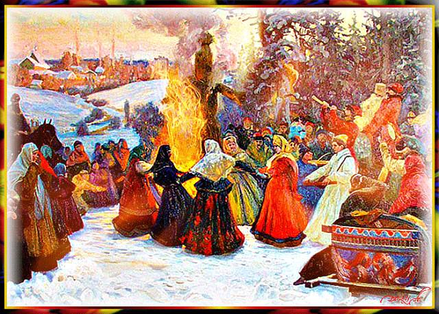 картинки весенних праздников в старину овец коз можно