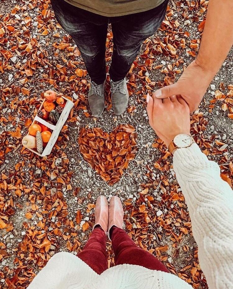 Картинки за руку осенью